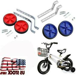 1 Pair Universal Kids Bike Bicycle Training Side Wheels Gift
