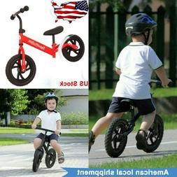 "12"" Balance Bike Kids Learning Training No Pedal Bicycle Boy"