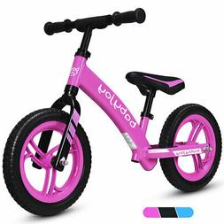 "12"" Balance Bike Kids No-Pedal Learn To Ride Pre Bike w/ Adj"