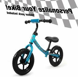 "12"" Balance Bike Kids - No-Pedal - Personalizes Your Bike-"