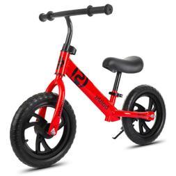 "12""  Balance Bike No-Pedal Learn to Ride Pre Bike Adjustable"