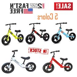 "12"" Children's Balance Bike No-Pedal Learn to Ride Pre Runni"