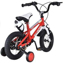 12 Inch Boys Bike Kids Girls Bicycle with Training Wheels Ad