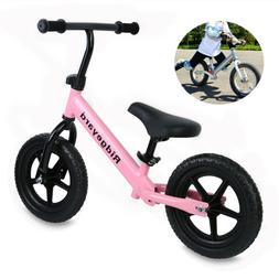 "Ridgeyard 12"" Kids Balance Bike Classic No-Pedal Bike Adjust"