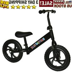 """12"""" Kids Bicycle Balance Bike Children No-Pedal Learn To R"""