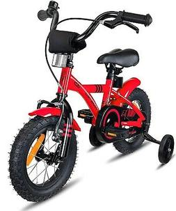 "Prometheus 12"" Kids Bicycle Bike with Training Wheels Red"