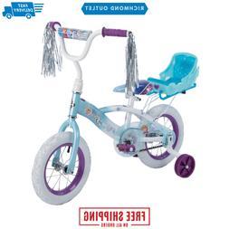 "12"" Kids Bicycle Girls Bike with Training Wheels Coaster Bra"