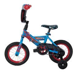 "12"" Marvel Spider-Man Boys Kids Starter Bike With Training W"