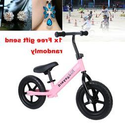 "12"" Pink Childrens Balance Bike No Pedal Push Pre-bike Bicyc"