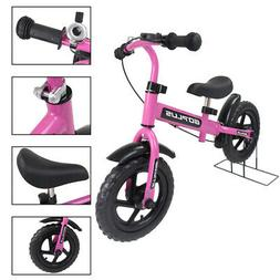 12'' Pink Kids Balance Bike Children Boys & Girls With Brake