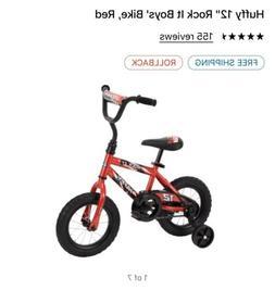 "Huffy 12"" Rock It Boys' Bike Red Kids Bicycle Outdoor Sport"