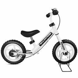 "12"" White Kids Balance Bike Children Boys & Girls with Brake"