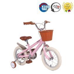 14 16 18 Inch Kids Bike With Training Wheels Pincess Pink Fo