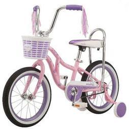 Schwinn Bloom kids bike, 16-inch wheel, training wheels, gir