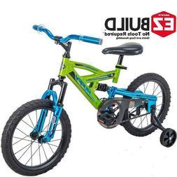 Huffy 16 Ds 1600 Kids Ez Build Dual Suspension Bike For Boys