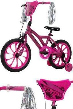 "Huffy 16"" Flashfire Girls' Bike for Kids, Purple / Pink Bicy"
