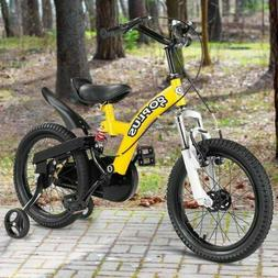 16 Inch Boys Bicycle Kids Sports Bike with Training Wheels Y