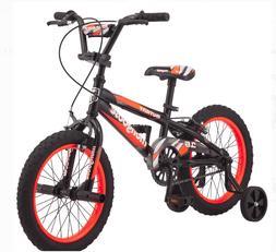 Mongoose 16 Inch Mutant Kids BMX-Style Bike Black Orange Fre