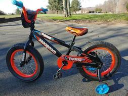 Mongoose 16 inch tires, Erupt Kids BMX-Style Bike - Black/Or