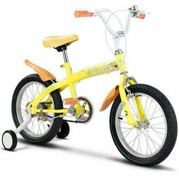 "16"" Kids Bicycle Bike Outdoor Sports With Training Wheels Be"