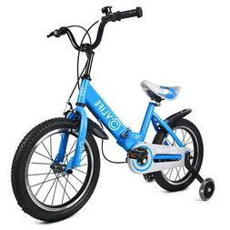 "16"" Kids Bike Foldable Bicycle Boys Girls + Adjustable Seat"