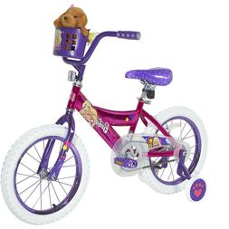 "16"" Inch Barbie Girls Girl Bike Puppy Training Wheels Basket"