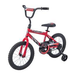 "16"" Wheel Huffy Steel Bike With Training Wheels Padded Seat"
