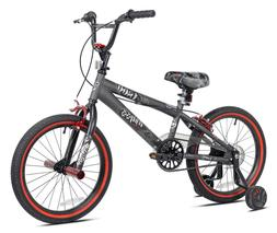 "18"" Inch Boys BMX Bike & Mohawk Helmet w/ Training Wheels Co"