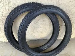 """Two 20x2.125/"""" BMX BLACK Comp 3 design tires /& TUBES"""