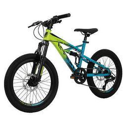 20-inch Oxide Boys Mountain Bike for Kids , Lime / Blue