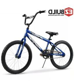 "Huffy 20"" Rock It EZ Build Kids Bike for Boys, Blue"