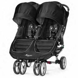 Baby Jogger 2016 City Mini Double Stroller Black & Grey Comp