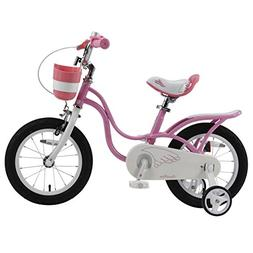a8fd7104143f Royalbaby RB14-18P Little Swan Girl's Bike with Basket, 14,