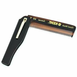 """Kent 20T 3 3/4"""" 100mm Fine Tooth Folding Comb with Pocket Cl"""