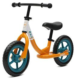Critical Cycles 2406 Cub No-Pedal Balance Bike for Kids, Ora