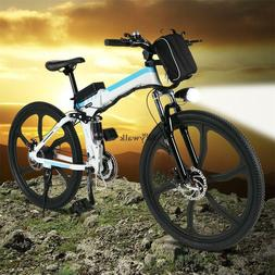 "26"" Folding Electric Mountain Bike 26 speed Ebike Bicycle 36"