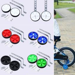 "2Pcs 12""-20"" Children Bicycle Bike Training Wheels Adjustabl"