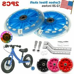 2x Universal Kids Bikes Cycle Flash Training Wheels Stabilis