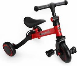 3 in 1 Kids Tricycles for 1-3 Years Old Kids Trike 3 Wheel T