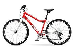 "woom 5 Pedal Bike 24"", 8-Speed, Ages 7 to 11 Years, Red"