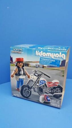 Playmobil 5280 Biker Motorcycle choper USA bike collectors i