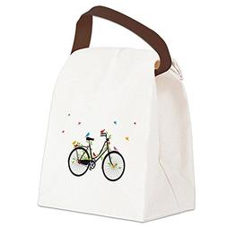 CafePress - Old Vintage Bicycle With Flowers And Colorful Bi