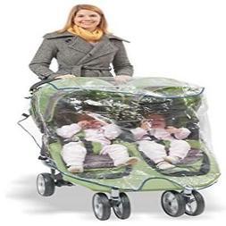 Comfy Baby! Universal Double Jogging Stroller Waterproof Ra