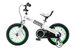 """RoyalBaby CubeTube Buttons 14""""  Bicycle for Kids, Green"""