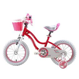 Royalbaby Stargirl Girl's Bike, 14 inch Wheels, Pink