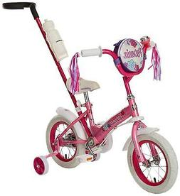 Schwinn Petunia Girl's Steerable Bike With Training Wheels,