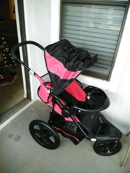 Baby 3 Wheel Red&Black Jogger Single Seat Stroller Brand T