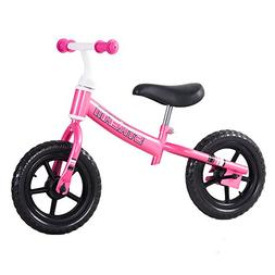 Tauki Kid Balance Bike, 12 Inch No Pedal Kid Bike Pink, 95%