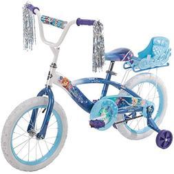 "16"" Huffy Kids Bicycle Disney Blue Frozen Graphics Swirly Sn"