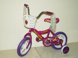 Children's Bicycle with Training Wheels  Purple & Pink